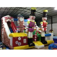 China Customized Commercial Inflatable Water Slides / Blow Up Soldier Castle Guard Themed PVC Dry Slide for sale