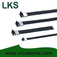 Wholesale 12×200mm L Type PVC coated stainless steel cable tie from china suppliers