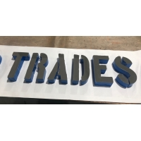 China Chrome Finish 2 Fabricated SUS304 Acrylic Sign Letters on sale