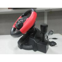 Buy cheap video game steering/ racing wheel with foot pedal for PC, X-INPUT, PS2, PS3 from Wholesalers