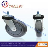 Buy cheap 125 mm Warehousing Shopping Trolley Spare Parts  5 inch Ground PU Castor from wholesalers