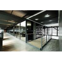 China Custom Modern Office Partitions / Sound Proof Double Glazed Partition Wall With Blinds on sale