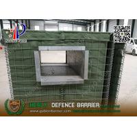 Wholesale Mil1 1.37m high Military Defensive Gabion Barrier with Green color Geotextile from china suppliers