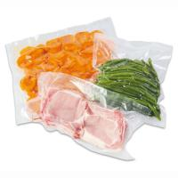 China Factory price food grade 3 side sealed vacuum packing bag/nylon retort pouch for frozen food with tear notch on sale