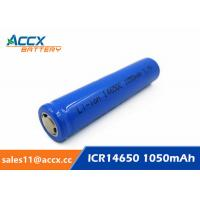 Wholesale cordless telephone battery ICR14650 3.7V 1050mAh li-ion batteries 14650, 14500, 18500, 18650, 26650 for led light from china suppliers