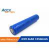 Buy cheap cordless telephone battery ICR14650 3.7V 1050mAh li-ion batteries 14650, 14500, from wholesalers