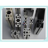 Black Anodised V - Slot Structural Structural Aluminum Profiles for Assembly Line Profile for sale