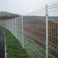 China 200*50mm Wire Mesh Fence PVC Coated 3D Curved For Farm 0.635m-2.435m Length for sale