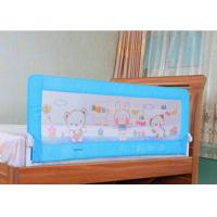 Wholesale Fold Down Extra Long Adjustable Bed Rails / Blue Child Bed Safety Rails from china suppliers