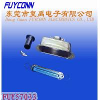 Wholesale 14 24 36 50 Pin Solder Female Receptacle Type Centronix Connector with 180 degree Metal Cover from china suppliers