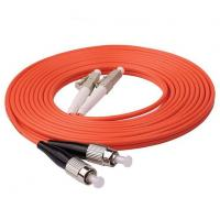 Wholesale 1m (3ft) LC UPC to FC UPC Duplex 2.0mm PVC (OFNR) OM1 Multimode Fiber Optic Patch Cable from china suppliers