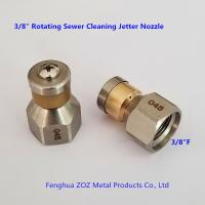 China 3/8 Rotating Drain Sewer Jetter Nozzle , Rotating Drain & Sewer cleaning nozzle on sale