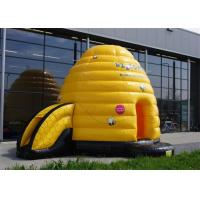 Wholesale Multifunction Inflatable Bouncer , Yellow Inflatable Bouncers For Adults With Small Slide from china suppliers