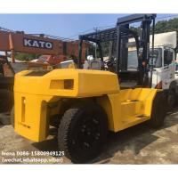 China used diesel 2012 model 15ton komatsu forklift truck FD150E-7  low work hrs widely used in ports and factory on sale