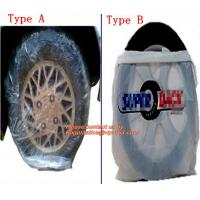 Wholesale Heavy duty wheel bag masker tire storage bag, Disposable PE plastic tyre bag on roll, Tire storage bag disposable tyre c from china suppliers