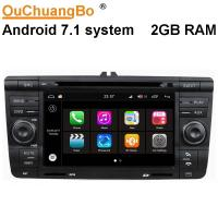 Quality Ouchuangbo 7 inch car audio gps navi android 7.1 for Skoda Octavia 2007-2009 with bluetooth steering wheel control for sale