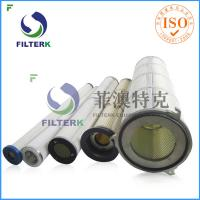 China Three Lugs Industry Pleated Filter Cartridge For 9.4 M2 Filtering Area for sale