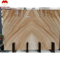 Buy cheap Bookmatch Yellow and White Color Mulge Earl Royal Wood Grain Marble from wholesalers