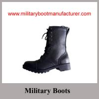 Wholesale Wholesale China Made Black Split Leather Police Combat DMS Boot with Size Zipper from china suppliers