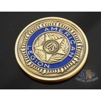 Wholesale Custom Logo Soft Enamelled US 3D effect Challenge Coins Antique gold With Soft Enamel Both side from china suppliers