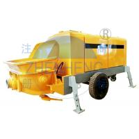 Wholesale Hydraulic Mini Concrete Pump Machine , Yellow Trailer Mounted Concrete Pump from china suppliers