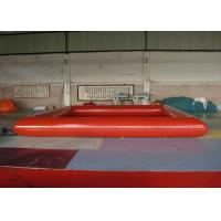 Wholesale Red Rectangle Blow Up Swimming Pool With Fire Resistant 0.9mm PVC Tarpaulin from china suppliers