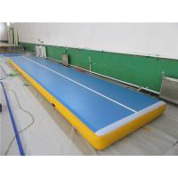 Wholesale Digital Printing Gymnastics Bouncy Mats , Outdoor Tumble Track Trampoline No Noise from china suppliers