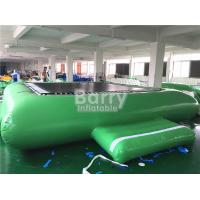 Wholesale Green Inflatable Water Toys Water Trampoline For Floating Water Park Equipment from china suppliers