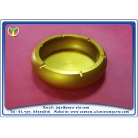 China Ashtray Tobacco Jar Custom Aluminum Fabrication With Silver And Gold Color on sale