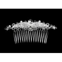 Elegant design Crystal Bridal Jewelry hair comb with crystal and pearl SL1949 for sale