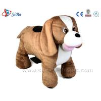 China Sibo Animal Plush Dog Stuffed Toys Animal Rides,Battery Rides With Big Ears on sale