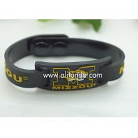 FREE SAMPLE Debossed color filled rubber wrist bands cheap bracelet custom silicone for sale