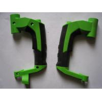 China Cusomized multi shot injection molding twin color ABS+TPR overmoulding parts for sale