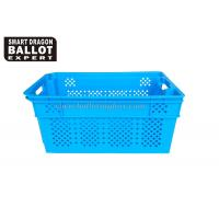 Quality Durable Mesh Ventilated Plastic Stackable Storage Box Crates Portable for sale
