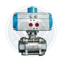 Wholesale butterfly valve ball valve with at series pneumatic rotary actuator from china suppliers