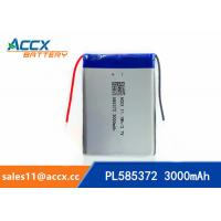 Wholesale 585372 3000mAh lithium polymer battery for digital products 3.7V with PCM protection from china suppliers