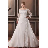 Wholesale Custom Size Lace Ruffle Sweep Train Taffeta Plus Size Designer Wedding Gowns With Beaded from china suppliers