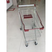 Buy cheap Wire Grocery Cart / Zinc plating clear powder coating with4 PU casters from wholesalers