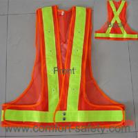 Wholesale 100% Polyester Fabric Reflective Safety Vests With Zipper EN20471 & CE Standard from china suppliers
