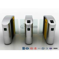 China 304 Stainless Steel Flap Barrier Gate Sliding Waist Height Turnstiles With DC Brush Motor on sale