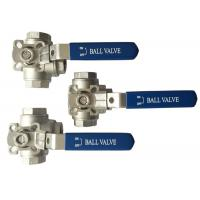 """Wholesale 1/2"""" to 2"""" Stainless Steel 304 316 flow Control """"T"""" and """"L""""  3  way diverter ball valve Heavy type from china suppliers"""