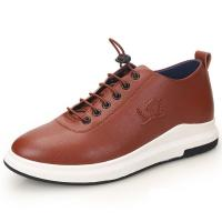 Wholesale Urban Sports Shoes Men's Fashion Leather Sneakers Taller 2.36 inches from china suppliers