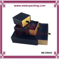 Wholesale Black Paper Drawer Box/Custom Size Belt Paper Gift Box/Matte Lamination Slide Paper Box ME-DR003 from china suppliers