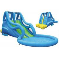 Wholesale Blue Kidwise Inflatable Water Slide And Pool / Inflatable Outdoor Water Slide from china suppliers