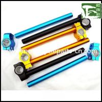 Wholesale R6 CNC Alloy Handlebar Yamaha Motorcycle Spare Parts Clip on Handle Bar , blue / golden / black from china suppliers