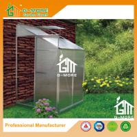 China Sliver Color Wall Lean-to 4mm PC Aluminum Greenhouse - 4'x4'x6.7'FT on sale