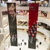 China Inkjet Printing Promotion Fabric Hanging Banners For Makeup Products on sale