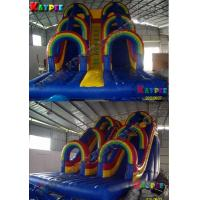 China Inflatable rainbow water slide, inflatable water part slide,Inflatable slide Game on sale