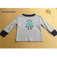 Wholesale 100% Cotton Children T Shirt Long Sleeve Round Neck Heather Gray SGS Certified from china suppliers