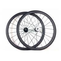 Wholesale Tubular Clincher Carbon Cycling Wheels T700 , Carbon 38mm Fixed Rear Wheel 700c  from china suppliers